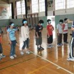 涌谷第二小学校キャップハンディ体験